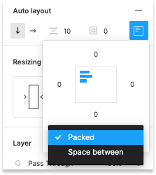 Figma Auto Layout Packed setting