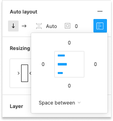 Figma Auto Layout Space Between setting